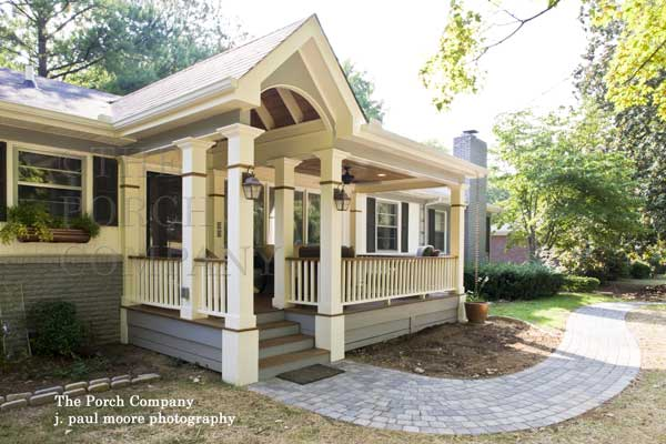 custom front porch design and build by The Porch Company