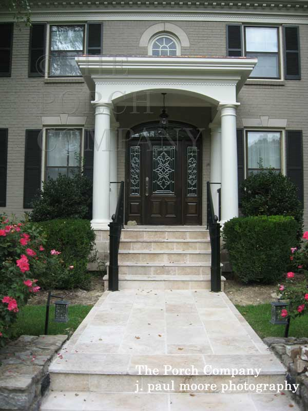 beautiful sidewalk leading to front porch - Front Porch Design Ideas
