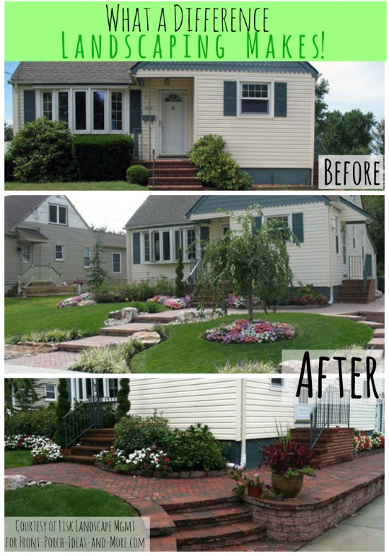Small Front Yard Landscaping Before And After : Front porch appeal newsletter april spring edition