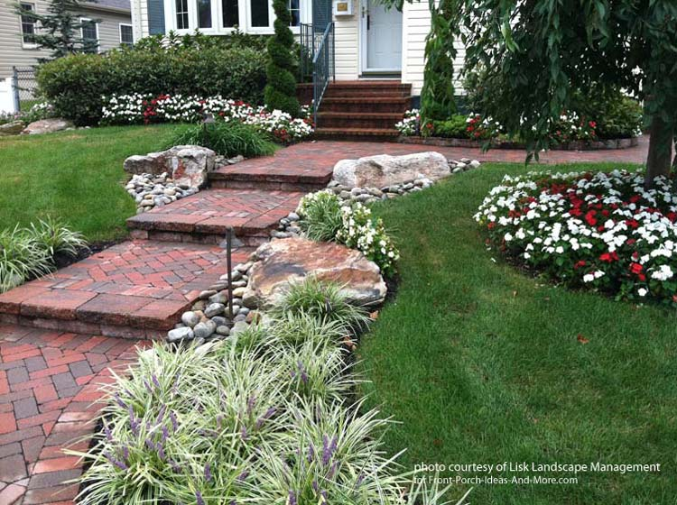 Beautifully front yard by Lisk Landscaping Management. Front Yard Landscape Designs with Before and After Pictures