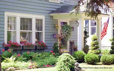 Front yard landscaping landscaping yards privacy for Front window landscaping ideas