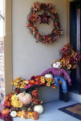 Fun Fall Colors for a Small Porch