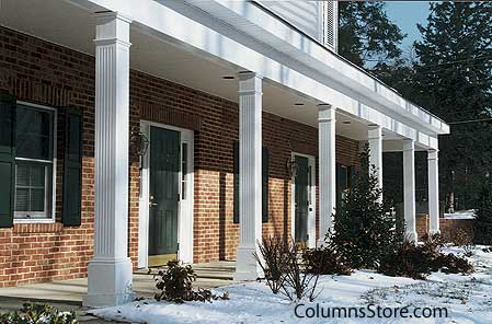Structural vinyl porch columns columns for front porch for House plans with columns and porches
