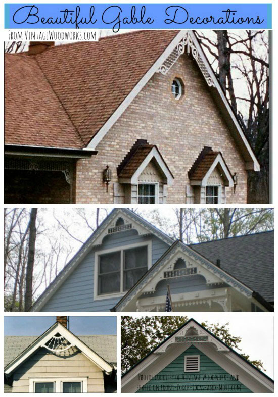 Exterior house trim outdoor trim brackets and spandrels Gable accents