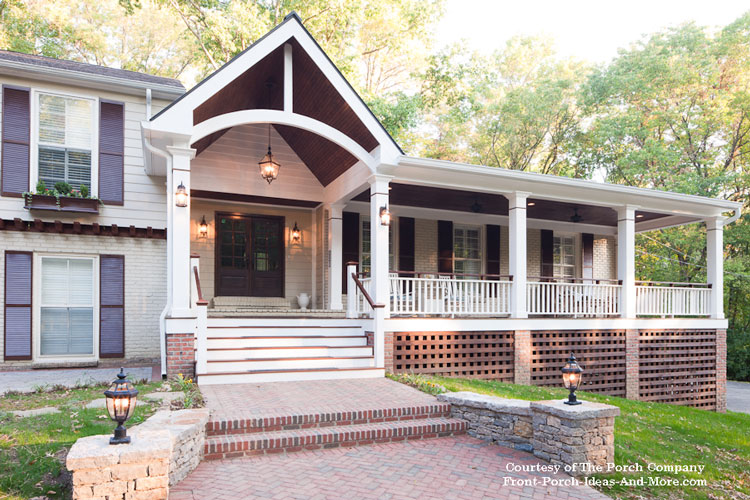 Beautifully Designed Front Porch With Gable