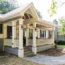 new front porch design on home