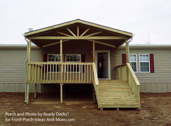 Podcast 9 porch ideas for mobile homes for Porch roof plans