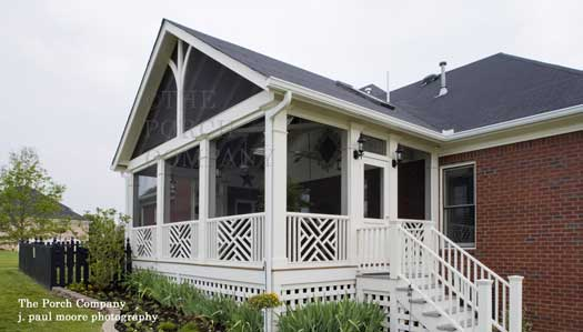 Screen porch design ideas for your porch 39 s exterior for Gable designs