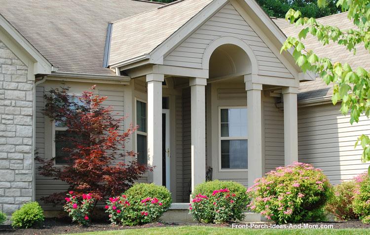 arched front porch entrance