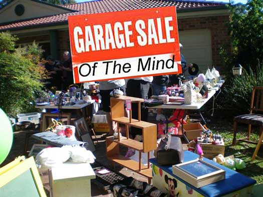 garage sale of the mind poster