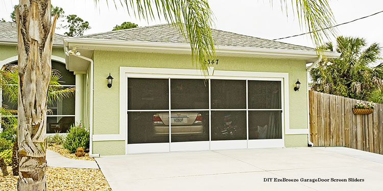 DIY ezebreeze garage door screen sliding panels