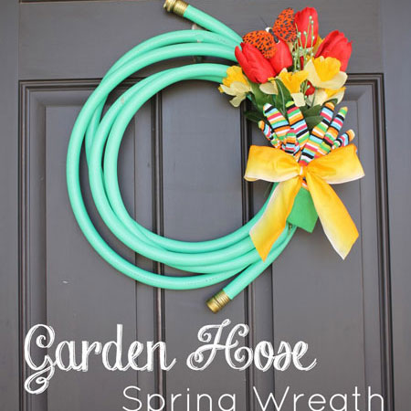 garden hose front door wreath