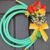 Jill's garden hose wreath