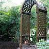 vinyl lattice panels as garden arbor
