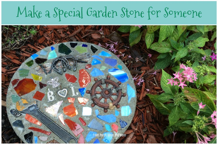 The finished garden stone turned out beautifully.