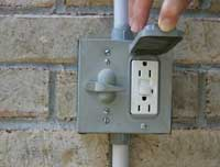 outdoor receptacle