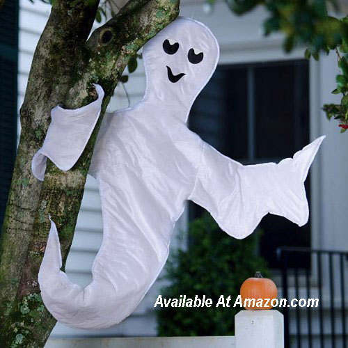 ghost tree wrap for Halloween decorating from Amazom.com