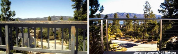 stainless steel railing kit by ags stainless installed on deck