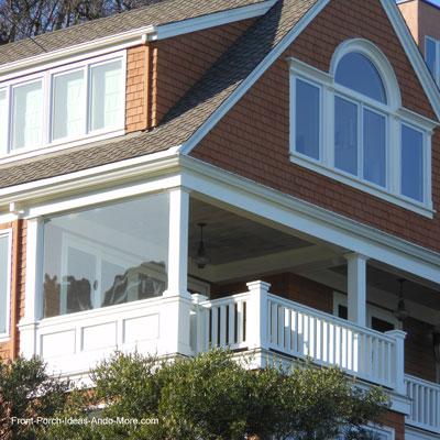 four season porch plan and sketch