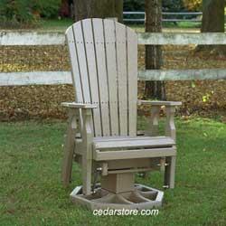 Outdoor furniture glider