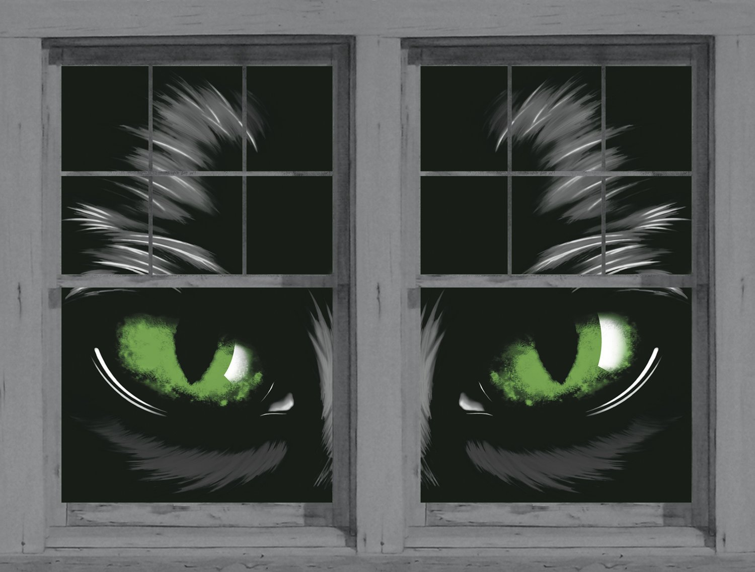 glowing cat eyes window covers for Halloween decorating from Amazom.com