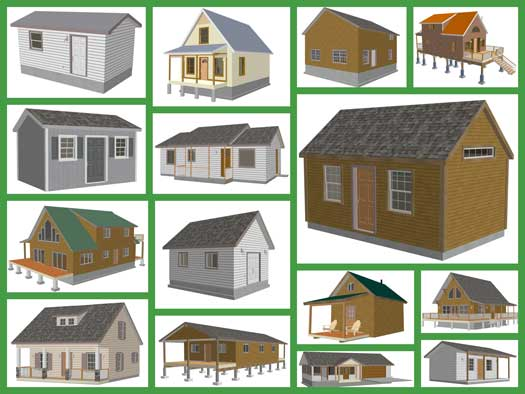 Shed Design Plans | Small Cabin Plans | Easy to Build Cabin Plans