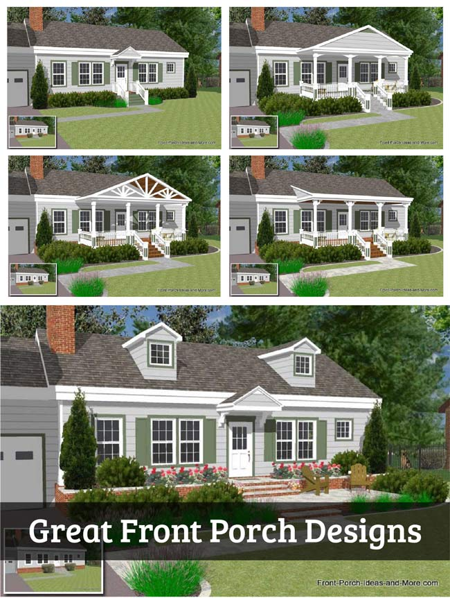 great front porch designs illustrator