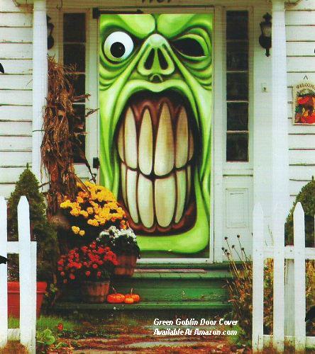 green goblin door cover for Halloween from amazon.com