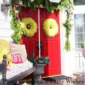 A Grinch Christmas theme rocks! Donna's porch