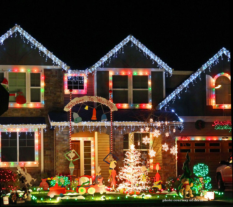 grinch christmas outdoor light display