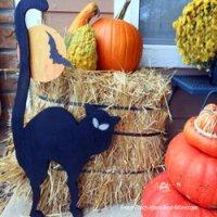 black cat halloween diy project