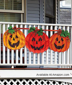 pumpkin bunting for front porch railings