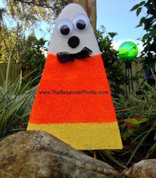 candy corn made from styrofoam