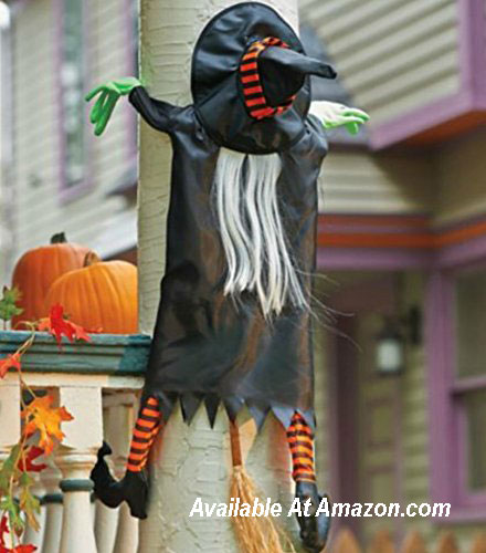 crashing witch for Halloween decorating from Amazom.com