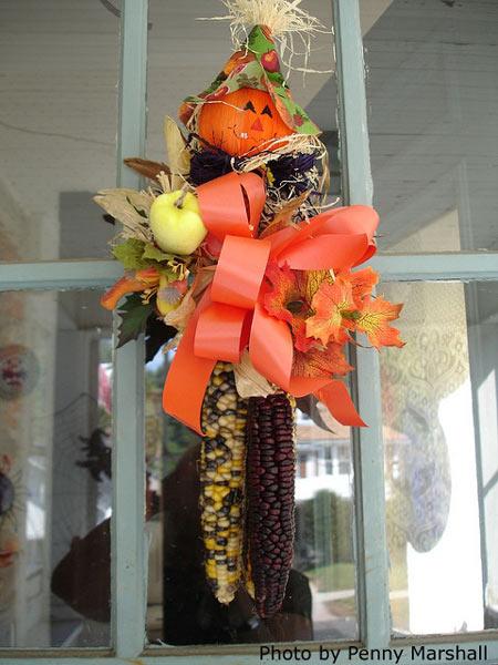 outdoor Halloween decoration for front door