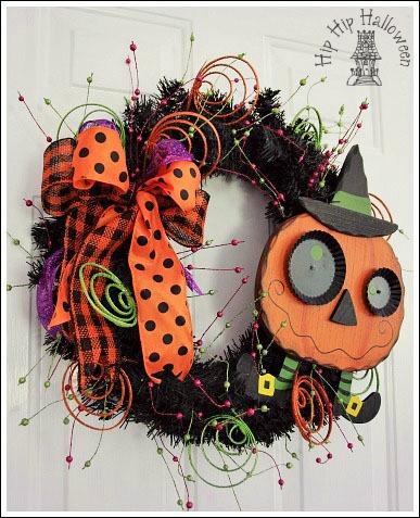 Halloween front door wreath