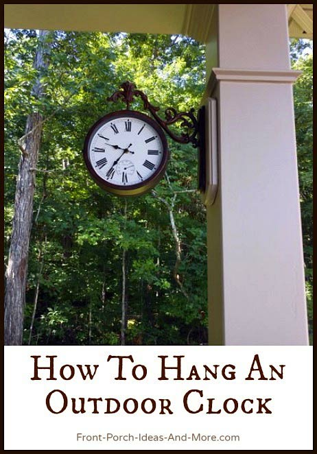 Hang An Outdoor Thermometer Clock | Large Outdoor Clock | Wall