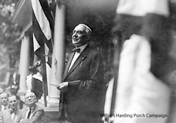 William Harding porch campaign