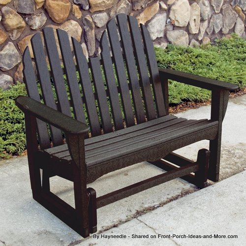 Adirondack in style, this is my favorite recycled glider from Hayneedle