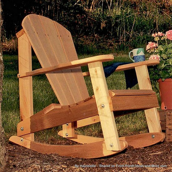 Classic wooden Adirondack rocking chair from Hayneedle