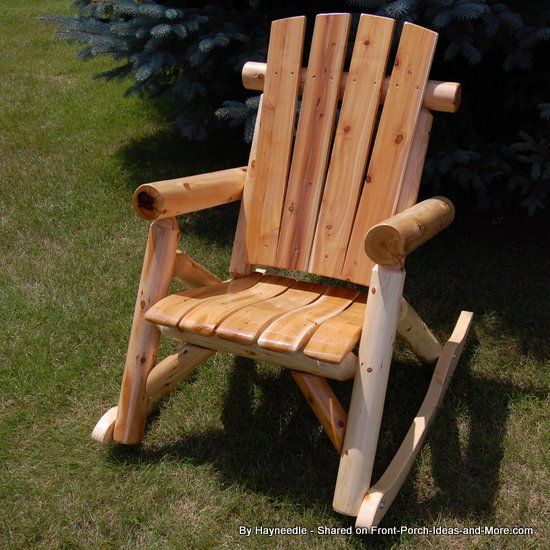 Sturdy wooden rocking chair from Hayneedle