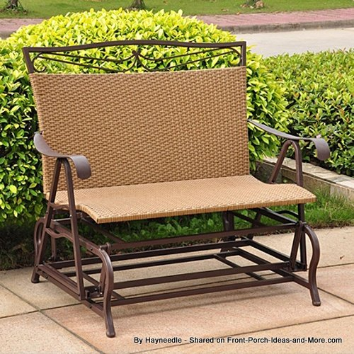 Wesin wicker and steel porch glider from Hayneedle