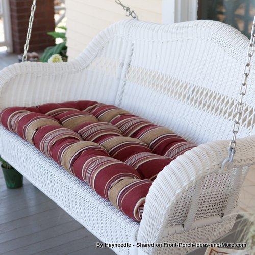 Cushy Porch Swing Cushions From Hayneedle