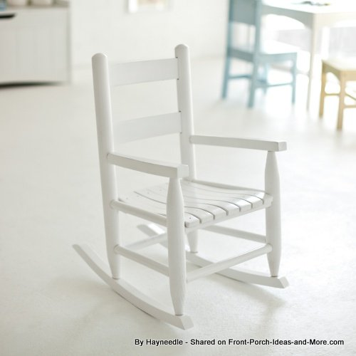 Classic white child's rocking chair by Hayneedle