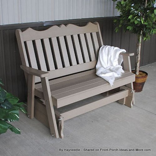 traditional style recycled glider in a taupe color