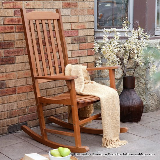 Classic wood rocking chair from Hayneedle