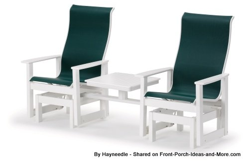 Recycled two-seater glider from Hayneedle