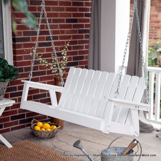 White porch swing from Hayneedle.com