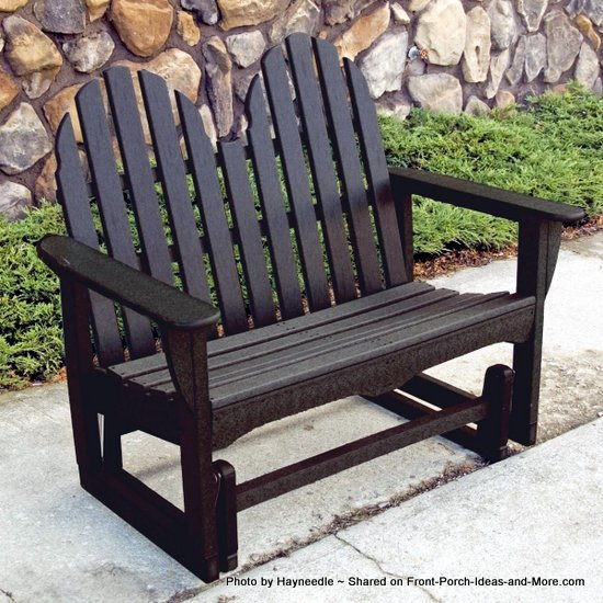 Adirondack porch swing from Hayneedle.com