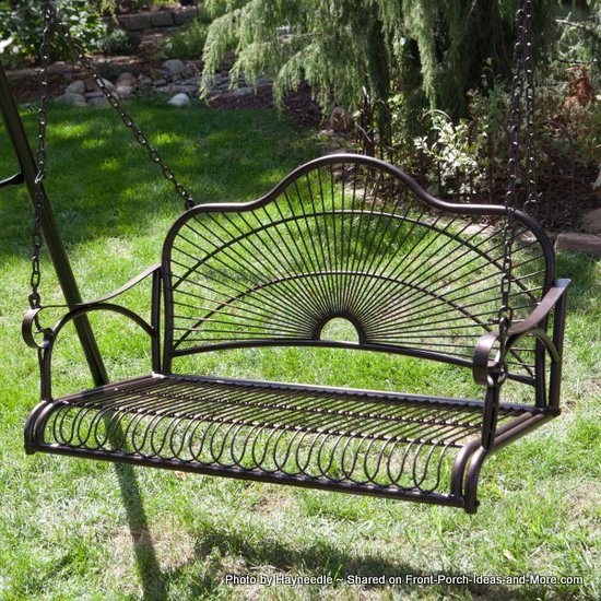 A Metal Porch Swing Is For Marking Memories On Your Porch